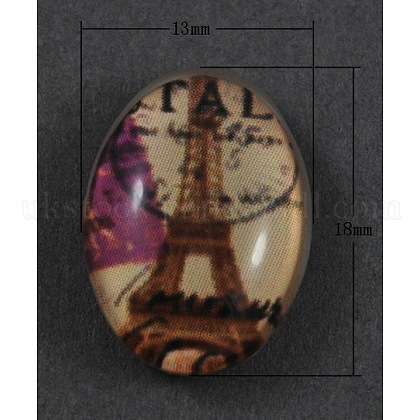 Tempered Glass CabochonsUK-GGLA-R191-1-1