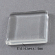 Transparent Glass Cabochons UK-GGLA-S013-20x20mm-1-2