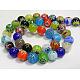 Handmade Millefiori Glass Beads StrandsUK-LK13-2