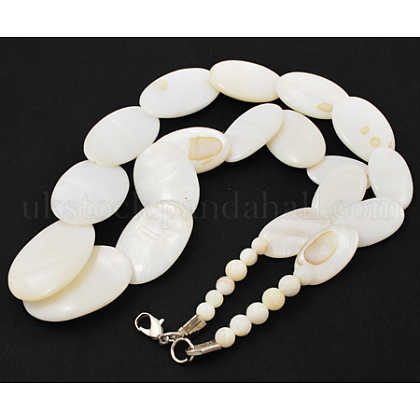 Shell Beads NecklaceUK-PJN595Y-1