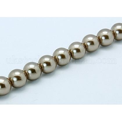 Shell Pearl Beads StrandsUK-SP8MM237-1
