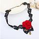 Retro Cloth Lace Short Gothic Flower Collar NecklacesUK-NJEW-JL082-04-K-3