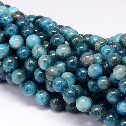 Natural Apatite Beads StrandsUK-G-P132-04-8mm-1