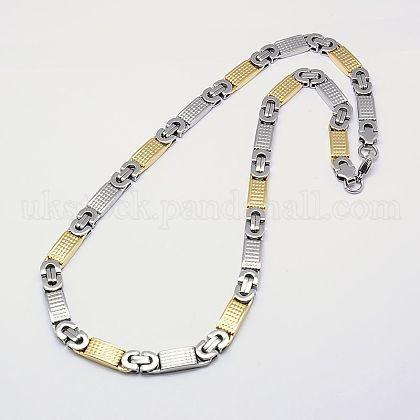 304 Stainless Steel Byzantine Chain NecklacesUK-NJEW-I010-18A-K-1