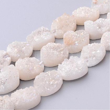 Electroplated Natural Quartz Crystal Beads StrandsUK-G-UK0005-10x14mm-09-1