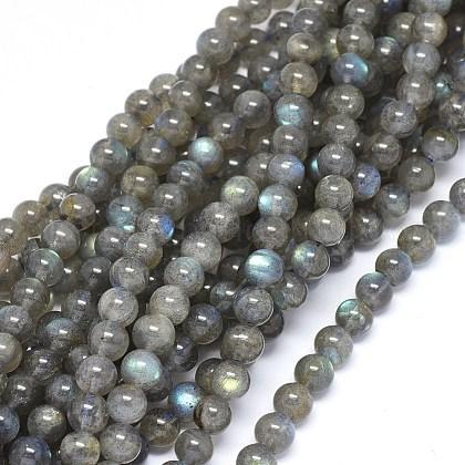 Natural Labradorite Beads StrandsUK-G-F602-04-6mm-1