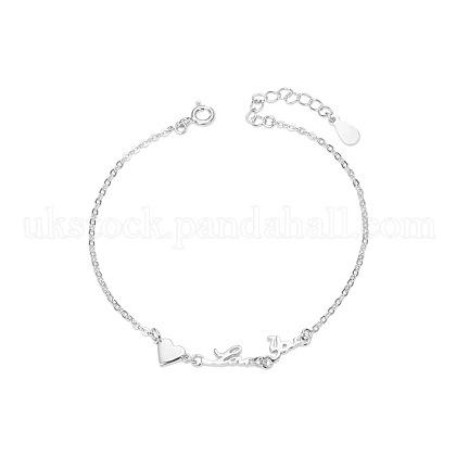 SHEGRACE Valentine's Day Sterling Silver Link BraceletsUK-JB48A-K-1