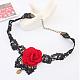 Retro Cloth Lace Short Gothic Flower Collar NecklacesUK-NJEW-JL082-04-K-5