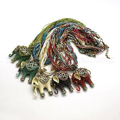 Fashion Seed Beads Jewelry NecklacesUK-NJEW-F004-M-1