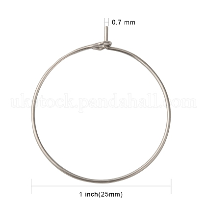 316 Surgical Stainless Steel Wine Glass Charms RingsUK-STAS-L214-01D-1