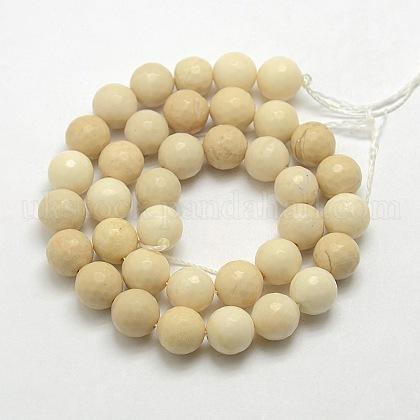Natural Petrified Wood Beads StrandsUK-G-UK0001-114F-8mm-1
