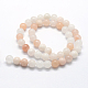 Natural Pink Aventurine Beads StrandsUK-G-I199-22-6mm-2