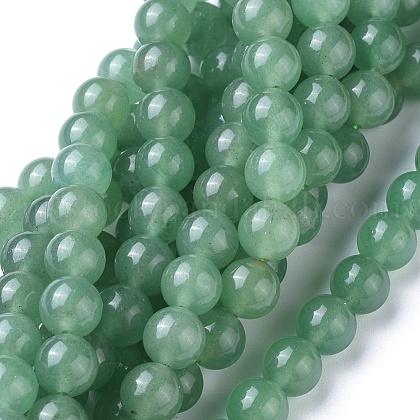 Natural Green Aventurine Beads StrandsUK-GSR024-1
