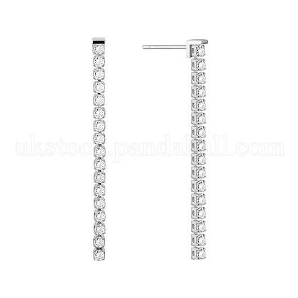 SHEGRACE® Elegant Fashion Sterling Silver Tennis Dangle Stud EarringsUK-JE123A-1