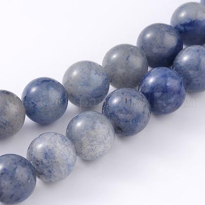 Natural Blue Aventurine Beads StrandsUK-G-I199-24-6mm-1