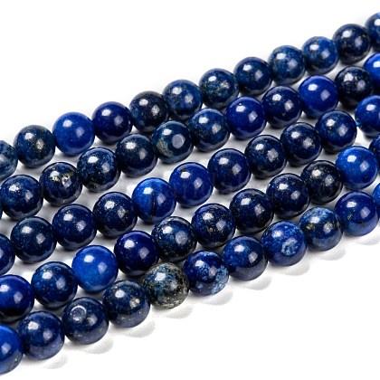 Natural Lapis Lazuli Beads StrandsUK-G-G087-8mm-1