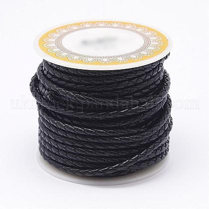 Braided Cowhide Leather CordUK-NWIR-N005-01C-4mm-1