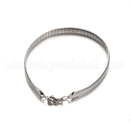 304 Stainless Steel Snake Chain BraceletsUK-BJEW-D414-C-1