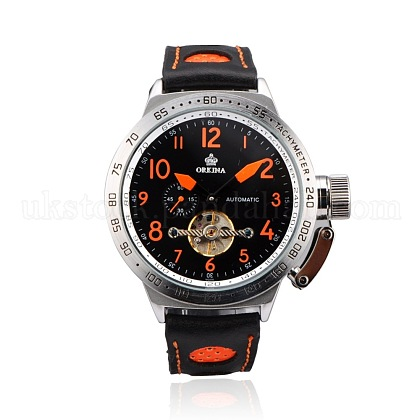 Stainless Steel Leather Wrist WatchUK-WACH-A002-11-1