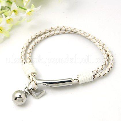 Fashion Multi-strand Cord BraceletsUK-BJEW-I067-1P-1