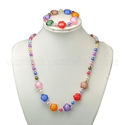 Fashion Acrylic Jewelry Sets for KidsUK-SJEW-JS00299-05-K-1