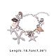 PandaHall Elite Trendy Charm BraceletsUK-BJEW-PH0004-03-2